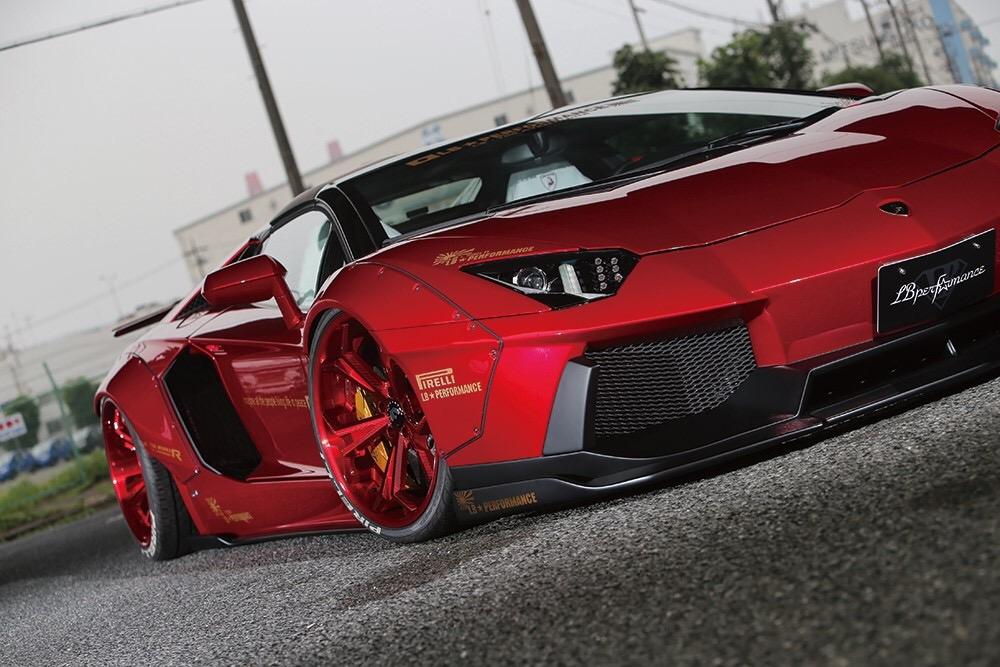 PS16 ポスター Aventador Front RD